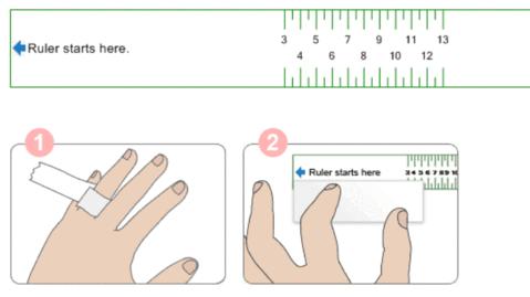 using paper strip measurement rings